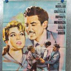 Cine: YO ...EL AVENTURERO. ANTONIO AGUILAR, ROSA DE CASTILLA. AÑO 1962. POSTER ORIGINAL. Lote 178597112