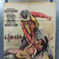 Cine: PUÑOS DE ROCA. RAFAEL BERTRAND, OLIVIA MICHEL, ALFONSO MEJÍA AÑO 1964. POSTER ORIGINAL. Lote 269096578