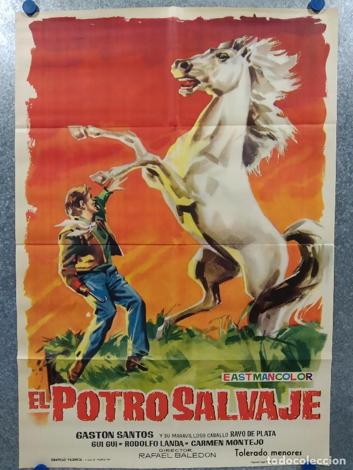 EL POTRO SALVAJE. GASTÓN SANTOS, LILIA MARTÍNEZ 'GUI-GUI' AÑO 1961. POSTER ORIGINAL (Cine - Posters y Carteles - Westerns)