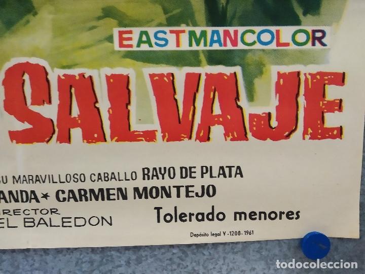 Cine: El potro salvaje. Gastón Santos, Lilia Martínez 'Gui-Gui' AÑO 1961. POSTER ORIGINAL - Foto 4 - 178599285