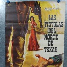 Cine: LAS PISTOLAS DEL NORTE DE TEXAS. JOSEPH COTTEN, JAMES MITCHUM. AÑO 1967 POSTER ORIGINAL. Lote 178604996