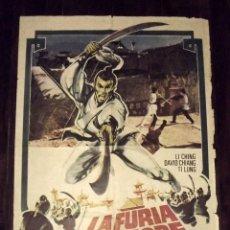 Cine: LA FURIA DEL TIGRE AMARILLO, 1973, TAMAÑO GRANDE 70 X 100 CM APROX. Lote 178659135