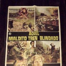 Cine: AQUEL MALDITO TREN BLINDADO, TAMAÑO GRANDE 70 X 100 CM APROX. Lote 178660141