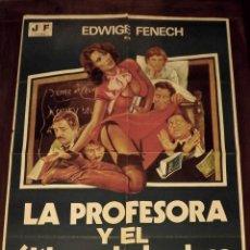 Cine: LA PROFESORA Y EL ÚLTIMO DE LA CLASE, 1978, TAMAÑO GRANDE 70 X 100 CM APROX. Lote 178660478