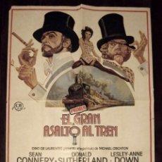 Cine: EL GRAN ASALTO AL TREN, SEAN CONNERY, 1978, TAMAÑO GRANDE 70 X 100 CM APROX. Lote 244202575