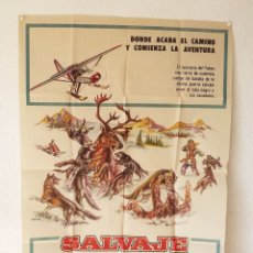 Cine: SALVAJE FEROZ, TAMAÑO GRANDE 70 X 100 CM APROX. Lote 178662551