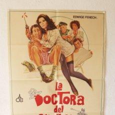 Cine: LA DOCTORA DEL REGIMIENTO, 1977, TAMAÑO GRANDE 70 X 100 CM APROX. Lote 178662706
