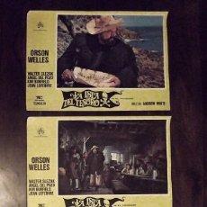 Cine: 3 CARTELES DE LA ISLA DEL TESORO, ORSON WELLS, 1973, 48X35 CM . Lote 178663798