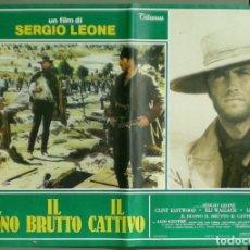 Cine: 2UU68D EL BUENO EL FEO Y EL MALO SERGIO LEONE EASTWOOD SET COMPLETO 6 POSTERS ORIG 47X68 ITALIANO. Lote 178685545