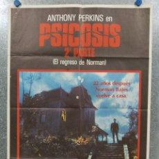 Cine: PSICOSIS 2. EL REGRESO DE NORMAN. ANTHONY PERKINS. POSTER ORIGINAL. Lote 178878256