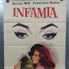 Cine: INFAMIA. MARISA MELL, FARLEY GRANGER, FRANCISCO RABAL, HELGA LINÉ AÑO 1975 POSTER ORIGINAL. Lote 178903372