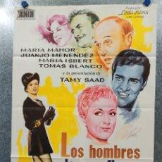 Cine: LOS HOMBRES LAS PREFIEREN VIUDAS. MARÍA MAHOR, JUANJO MENÉNDEZ AÑO 1970. POSTER ORIGINAL. Lote 178904506