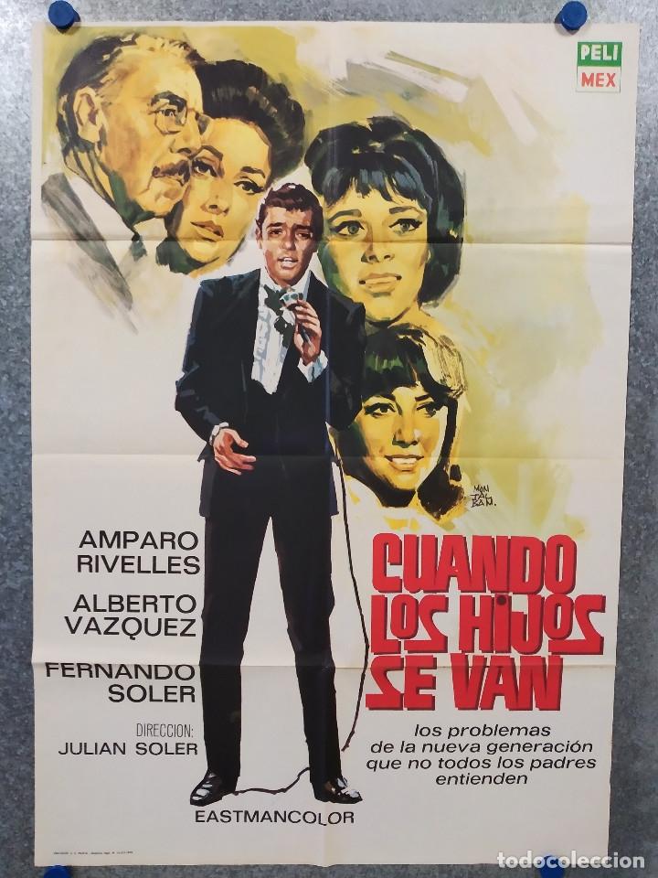 CUANDO LOS HIJOS SE VAN. AMPARO RIVELLES, FERNANDO SOLER. AÑO 1970. POSTER ORIGINAL (Cine- Posters y Carteles - Drama)