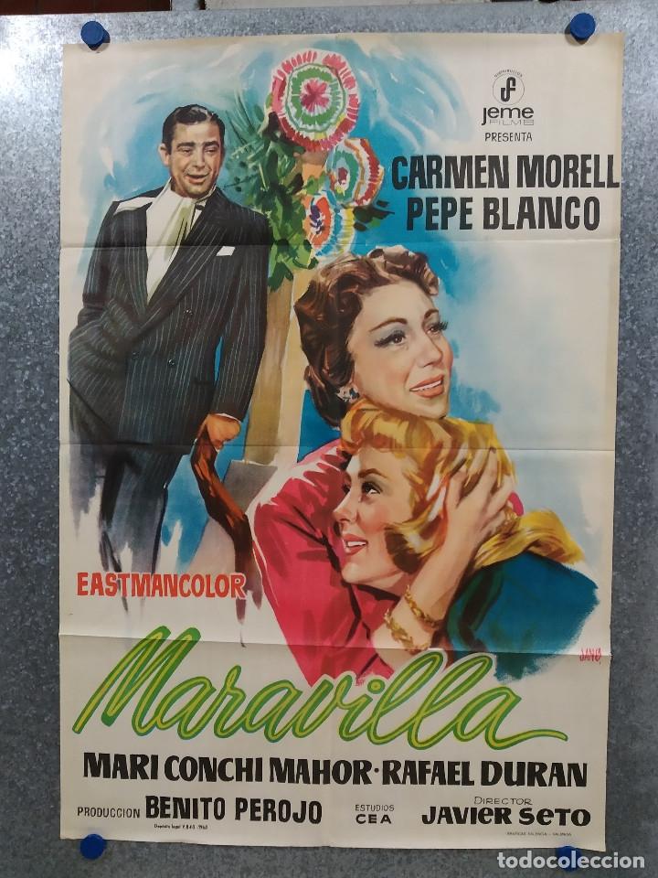 MARAVILLA. CARMEN MORELL, PEPE BLANCO, MARÍA MAHOR, RAFAEL DURÁN AÑO 1968. POSTER ORIGINAL (Cine - Posters y Carteles - Clasico Español)