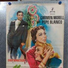 Cine: MARAVILLA. CARMEN MORELL, PEPE BLANCO, MARÍA MAHOR, RAFAEL DURÁN AÑO 1968. POSTER ORIGINAL. Lote 178906846