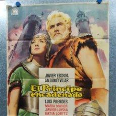 Cine: EL PRÍNCIPE ENCADENADO JAVIER ESCRIVÁ, ANTONIO VILAR, LUIS PRENDES. POSTER ORIGINAL. Lote 178907677