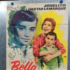 Cine: BELLO RECUERDO. JOSELITO, LIBERTAD LAMARQUE, SARA GARCÍA. AÑO 1961. POSTER ORIGINAL. Lote 178907848