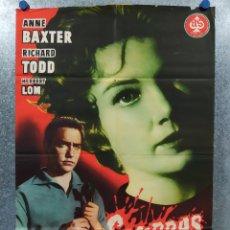 Cine: SOMBRAS ACUSADORAS. ANNE BAXTER , RICHARD TODD . AÑO 1958. POSTER ORIGINAL. Lote 179139498