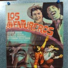 Cine: LOS AVENTUREROS. JOAQUIN CORDERO, JOSE ELIAS MORENO. AÑO 1964 POSTER ORIGINAL. Lote 179140538