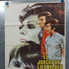 Cine: EL JUICIO DE LOS HIJOS. AMPARO RIVELLES, GUILLERMO MURRAY, BLANCA SANCHEZ. AÑO 1973POSTER ORIGINAL. Lote 179141345