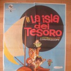 Cine: CARTEL CINE, LA ISLA DEL TESORO, WALT DISNEY, 1971, C105. Lote 179160051