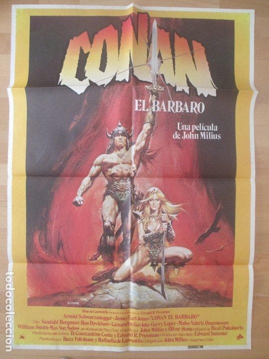CARTEL CINE,CONAN EL BARBARO, JOHN MILIUS, ARNOLD SCHWARZENEGGER, R. CASARO, 1982, C752 (Cine - Posters y Carteles - Acción)