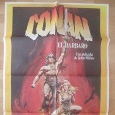 Cine: CARTEL CINE,CONAN EL BARBARO, JOHN MILIUS, ARNOLD SCHWARZENEGGER, R. CASARO, 1982, C752. Lote 179160225