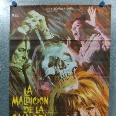Cine: LA MALDICIÓN DE LA CALAVERA. PETER CUSHING, CHRISTOPHER LEE. AÑO 1966. POSTER ORIGINAL. Lote 179171688
