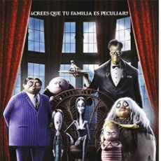 Cine: CARTEL PELI DIBUJOS: LA FAMILIA ADDAMS (2019). Lote 179185126