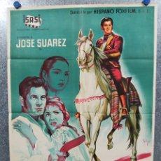 Cine: DIEGO CORRIENTES. JOSE SUAREZ, MARISA DE LEZA, EULALIA DEL PINO. POSTER LITOGRAFIA, SOLIGÓ. Lote 179325036