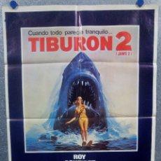 Cine: TIBURON 2. ROY SCHEIDER, LORRAINE GARY, MURRAY HAMILTON. AÑO 1978. POSTER ORIGINAL. Lote 179376316