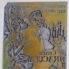 Cine: EL CONDE DRÁCULA . CHRISTOPHER LEE, HERBERT LOM, KLAUS KINSKI PRUEBA DE IMPRENTA DE ZINC. Lote 179539447