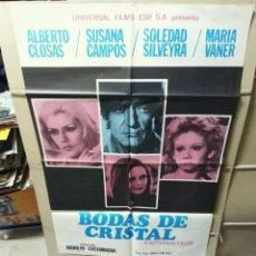 Cine: BODAS DE CRISTAL ALBERTO CLOSAS POSTER ORIGINAL 70X100 YY (2175). Lote 179546161