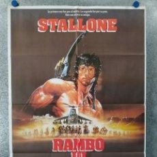 Cine: RAMBO III. SILVESTER STALLONE. AÑO 1988 ESTRENO. POSTER ORIGINAL. Lote 179573963