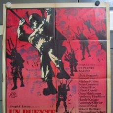 Cine: ZW67 UN PUENTE LEJANO ROBERT REDFORD MICHAEL CAINE SEAN CONNERY POSTER ORIGINAL 70X100 ESTRENO. Lote 180006361