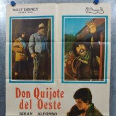 Cine: DON QUIJOTE DEL OESTE. BRIAN KEITH, ALFONSO ARAU AÑO 1971. POSTER ORIGINAL. Lote 180010997