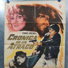 Cine: CRÓNICA DE UN ATRACO. TOMAS MILIAN, CLAUDIO CAMASO, ANITA EKBERG AÑO 1968. POSTER ORIGINAL. Lote 180012432