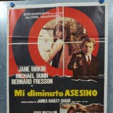 Cine: MI DIMINUTO ASESINO. JANE BIRKIN, MICHAEL DUNN, BERNARD FRESSON AÑO 1970. POSTER ORIGINAL. Lote 180012700