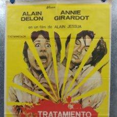 Cine: TRATAMIENTO DE SHOCK. ALAIN DELON, ANNIE GIRARDOT AÑO 1974. POSTER ORIGINAL. Lote 180013366