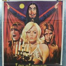 Cine: LAS ALEGRES VAMPIRAS DE VÖGEL. ÁGATA LYS, GERMÁN COBOS AÑO 1974. POSTER ORIGINAL. Lote 180016986