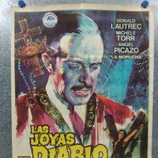 Cine: LAS JOYAS DEL DIABLO. DONALD LAUTREC, MICHÈLE TORR, ELORRIETA AÑO 1969. POSTER ORIGINAL. Lote 180019286