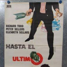 Cine: HASTA EL ÚLTIMO ALIENTO. RICHARD TODD, PETER SELLERS, ELIZABETH SELLARS AÑO 1969. POSTER ORIGINAL. Lote 180019556
