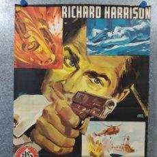 Cine: ESPÍAS EN BEIRUT. RICHARD HARRISON, DOMINIQUE BOSCHERO AÑO 1965. POSTER ORIGINAL. Lote 180020872