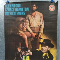 Cine: LA CABALGADA DE LOS MALDITOS. GLENN FORD, INGER STEVENS AÑO 1968. POSTER ORIGINAL. Lote 180021511