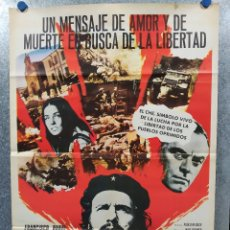 Cine: EL CHE GUEVARA. FRANCISCO RABAL. AÑO 1977. POSTER ORIGINAL. Lote 180022570