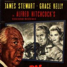 Cine: CARTEL ORIGINAL - LA VENTANA INDISCRETA - ALFRED HITCHCOCK - JAMES STEWART GRACE KELLY 1960. Lote 180044566