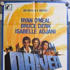 Cine: ZX27 DRIVER WALTER HILL RYAN O'NEAL ISABELLE ADJANI COCHES POSTER ORIGINAL 70X100 ESTRENO. Lote 180086745