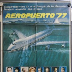 Cine: ZX20 AEROPUERTO 77 JACK LEMMON CHRISTOPHER LEE POSTER ORIGINAL 70X100 ESTRENO. Lote 180094750