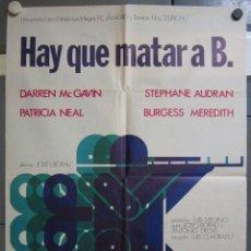 Cinema: ZX14 HAY QUE MATAR A B JOSE LUIS BORAU CRUZ NOVILLO POSTER ORIGINAL 70X100 ESTRENO. Lote 180098672
