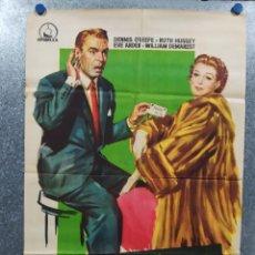 Cine: LA SEÑORA QUIERE VISÓN. DENNIS O'KEEFE, RUTH HUSSEY AÑO 1960. POSTER ORIGINAL. Lote 180111106